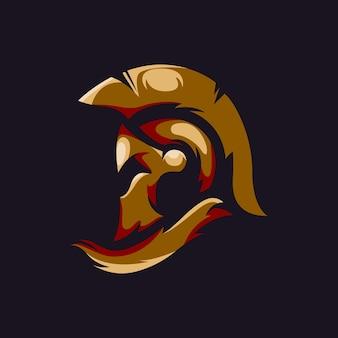 Spartanisches helmlogo für das esports-team