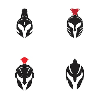 Spartanisches helmvektorikonen-illustrationsdesign