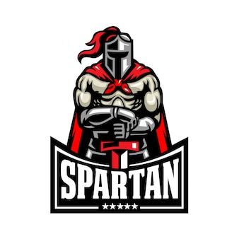 Spartanisches kämpferlogo