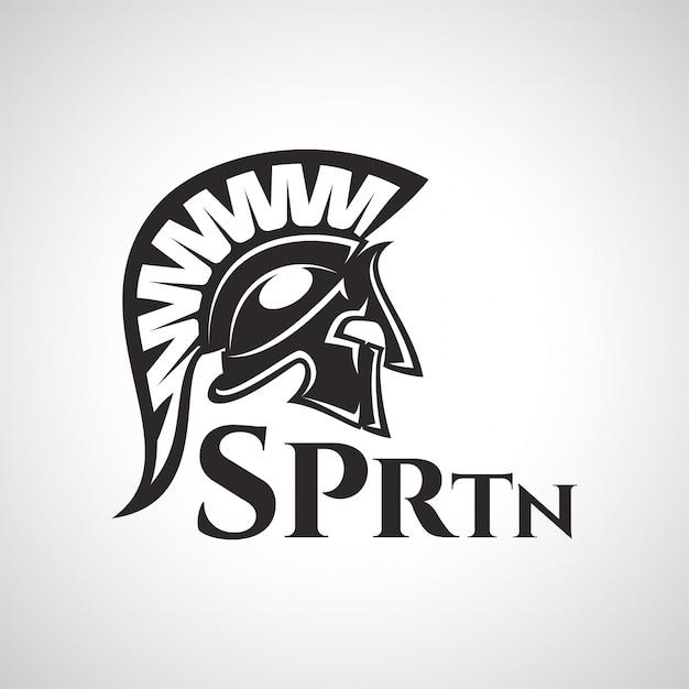 Spartanisches krieger-logo
