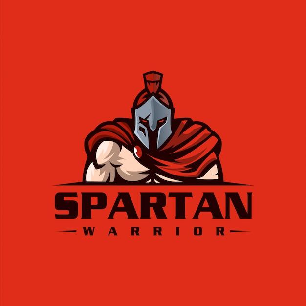 Spartanisches logo design gebrauchsfertig