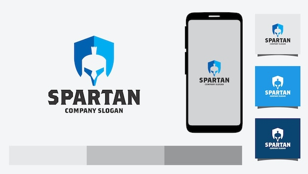 Spartanisches logo-design