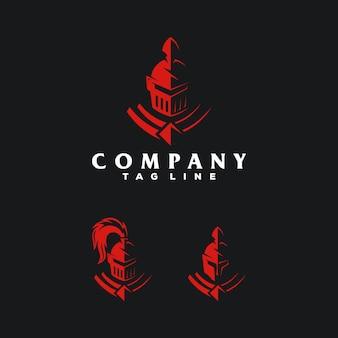 Spartanisches logo-illustrationskonzept