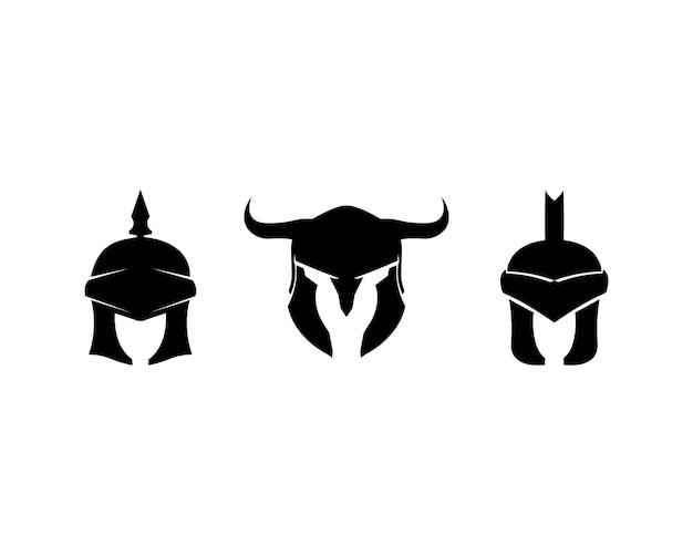 Spartanisches logo und helm und kopf