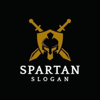 Spartanisches logovektor-grafikzusammenfassungssymbol