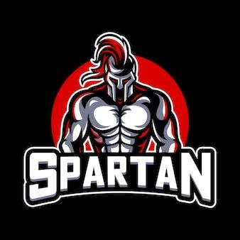 Spartanisches maskottchen-logo
