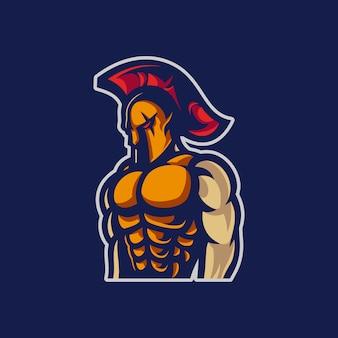 Spartanisches maskottchen
