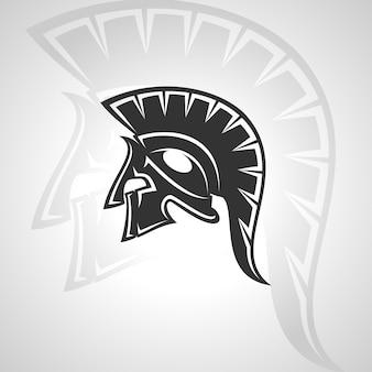 Spartanisches schattenbild-symbol