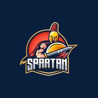 Spartanisches schwert logo