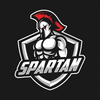 Spartanisches sportlogo