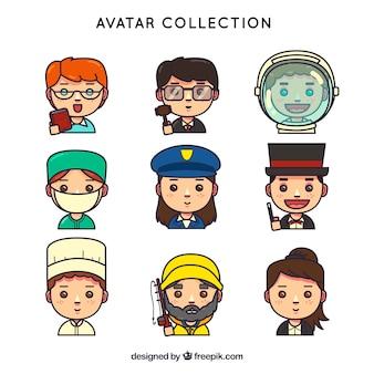 Spaß satz von arbeiter avatare