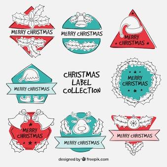 Spaß satz von weihnachts-etiketten