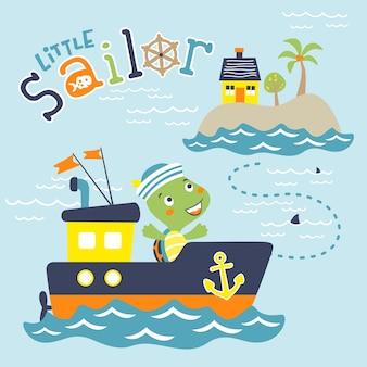 Spaß segeln cartoon