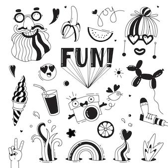 Spaß und freude an emotionen. hippie-lebensstil.
