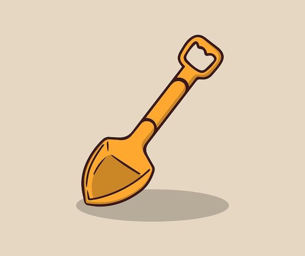 Spaten, um sandburgen zu bauen