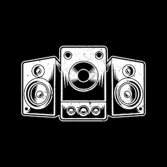 Speaker artwork illustration design logo