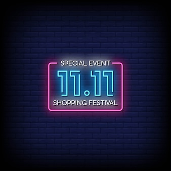 Special event neon signs style text