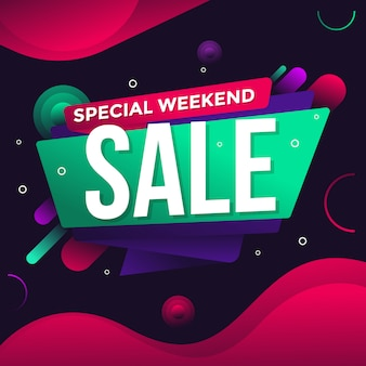 Special weekend sale banner flyer