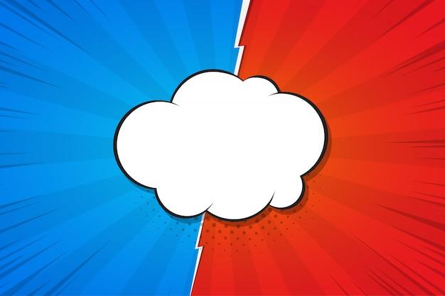 Speech buble fighting, versus. illustration.