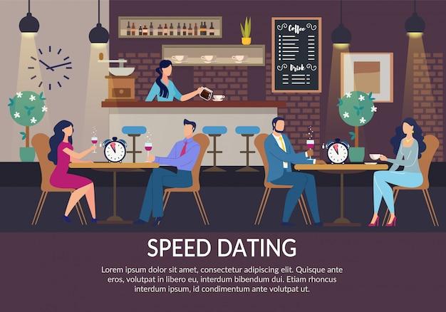 Speed dating für lonely people einladungsplakat