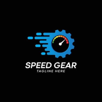 Speed gear-symbol-logo