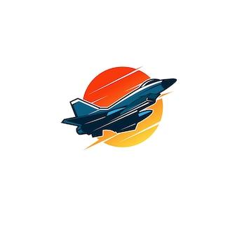 Speed jet flugzeug auf fly logo