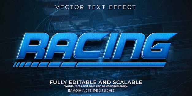 Speed race-texteffekt, schnell bearbeitbarer und sportlicher textstil.