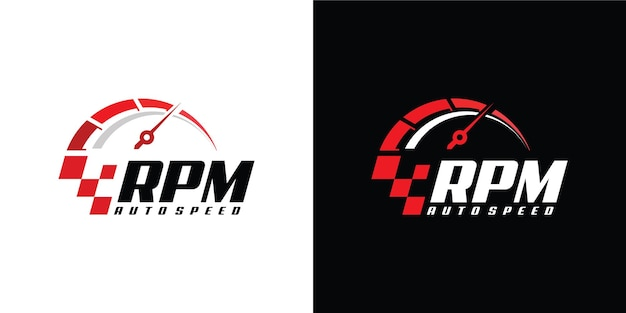 Speed u / min logo design für automobile