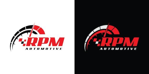 Speed u/min logo-design für automobilunternehmen