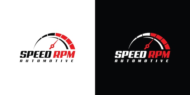 Speed u/min logo-design für die vorlage eines automobilunternehmens