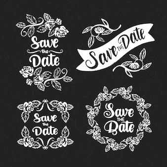 Speichern sie das datumsbeschriftungs-sammlungskonzept