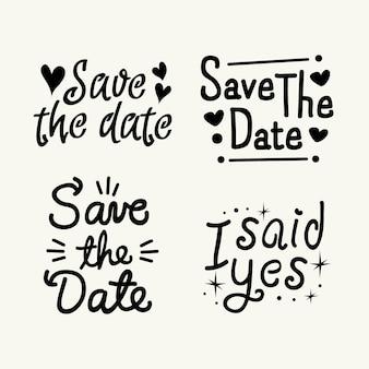 Speichern sie das datumsbeschriftungsdesign