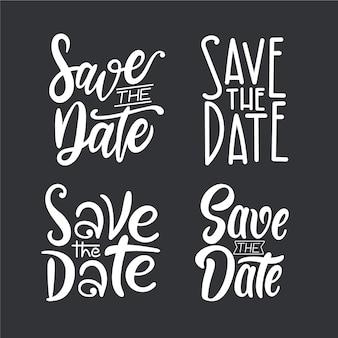 Speichern sie das datumsbeschriftungspaket