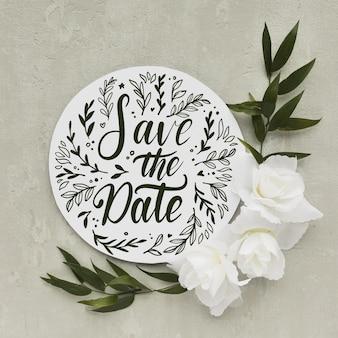 Speichern sie das datumsbeschriftungsthema