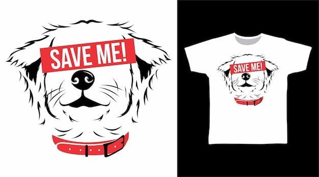 Speichern sie das hunde-t-shirt-design