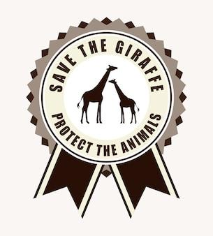 Speichern sie das tierdesign