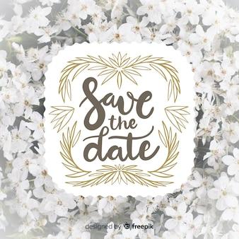 Speichern sie die datumsbeschriftung mit foto