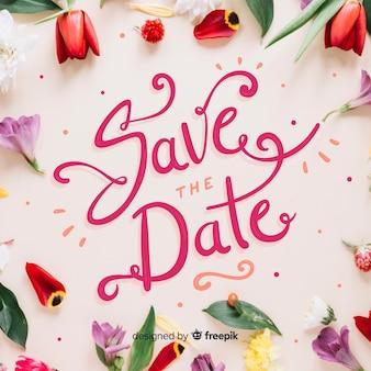 Speichern sie die datumsbeschriftung