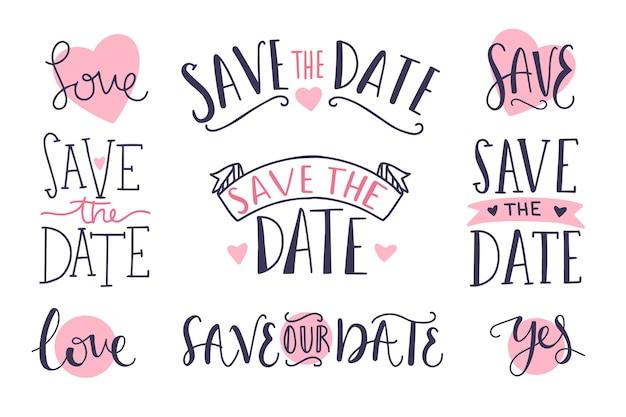 Speichern sie die datumsbeschriftungssammlung