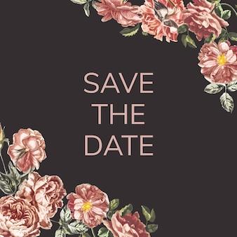 Speichern sie die datumseinladungsillustration