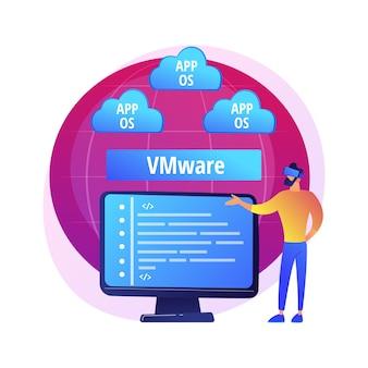 Speicherung von cloud-informationen. collocated cloud computing. datensynchronisation und harmonisierung. verfügbar, zugänglich, digital. verbundenes backup