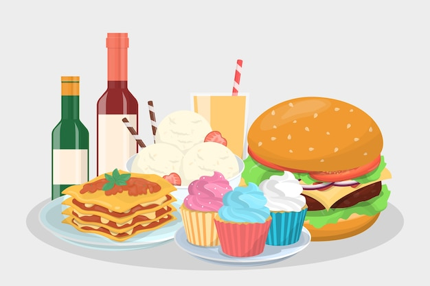Speisekarte für die party. köstlicher snack