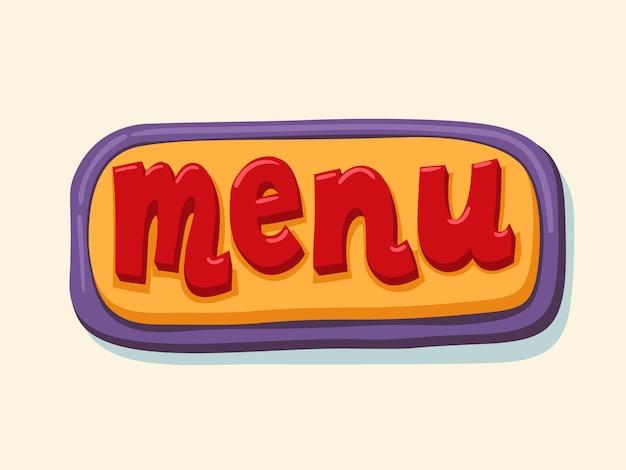 Speisekarte. hand gezeichnete web-taste.