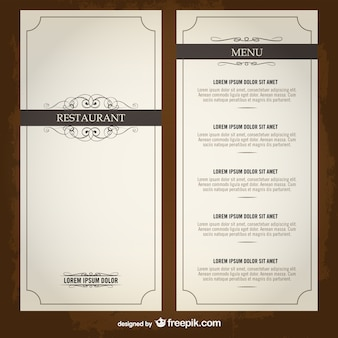 Speisekarte liste restaurant-vorlage