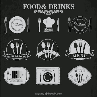 Speisen und getränke-aufkleber