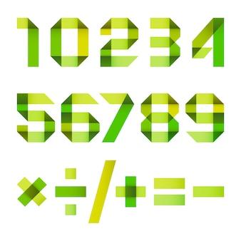 Spektralbuchstaben aus papierband gefaltet