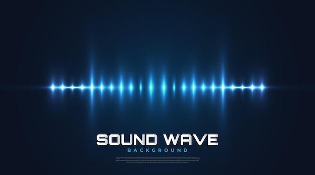 Spektrum-sound-hintergrund mit leuchtenden wellen. equalizer-design für musik, daten, wissenschaft und technologie. musikhintergrund geeignet für cover, präsentation, banner oder wallpaper
