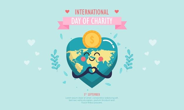 Spende am internationalen tag der wohltätigkeitsillustration