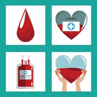 Spenden blut konzept design