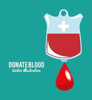 Spenden sie blutbeutel symbol